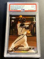 RONALD ACUNA 2018 TOPPS CHROME #193 SEPIA REFRACTOR ROOKIE RC PSA 9 BRAVES