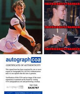 MARTINA HINGIS signed Autographed 11X14 Photo PROOF - SWISS MISS Tennis ACOA COA