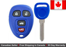 1x Blue New Replacement Keyless Entry Remote Control Key Fob For Chevy Buick GMC