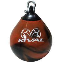 Rival Boxing Aqua Head Hunter Punching Bag - 9 in. - Black/Orange