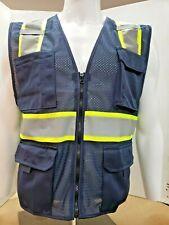 Navy Blue High Visibility Reflective Safety Vest X Small 3 Xl
