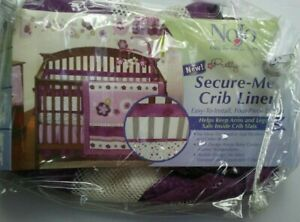 Pretty In Purple Secure-Me Crib Liner by NoJo *DISCONTINUED* NEW