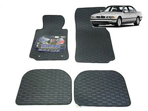 Rubber Car Floor Mats All Weather Fully Tailored Carmats BMW 7 E38 SWB 1994-2001