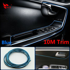 BLUE 10M FLEXIBLE TRIM FOR CAR INTERIOR EXTERIOR MOULDING STRIP DECORATIVE LINE