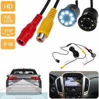 8 LED Visore notturno impermeabile parcheggio inverso telecamera posteriore IR