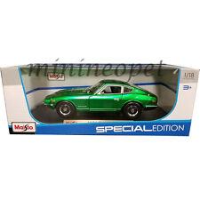 MAISTO 31170 1971 71 NISSAN DATSUN 240Z 1/18 DIECAST MODEL CAR GREEN