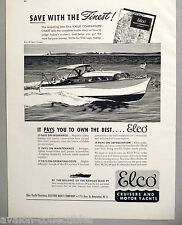 Elco 30 Sport Cruiser Boat PRINT AD - 1948 ~~ yacht