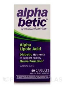 alpha betic Alpha Lipoic Acid Vitamin Capsules, 60 Ct (9 Pack)