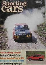 Sporting Cars 09/1984 featuring Porsche 928S, Triumph Stag, Vauxhall Astra GTE