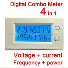 AC 220v 380v 100A LCD Voltage current power Frequency Digital Combo Panel Meter