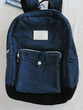True Religion Unisex Backpack -Silver Logo Plate -Body Rinse Wash - NWT $149