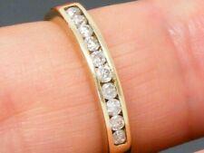 9ct Gold 0.25ct Diamond Hallmarked Eternity ring size M