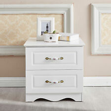 Brand New Woodn Bedside Table White Drawer Nightstand Cabinet Simple Chest