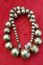 Early Taxco Mexican sterling silver 925 graduated bead ball heavy necklace 97grm