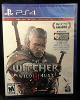 PLAYSTATION 4 PS4 VIDEO GAME WITCHER 3 WILD HUNT BRAND NEW AND SEALED