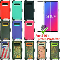Defender Case For Samsung Galaxy S10+Plus w/Screen & Belt Clip Fits Otterbox