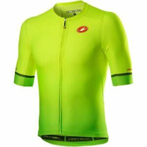 NEW 2021 Castelli AERO RACE 6.0 Full Zip Cycling Jersey,YELLOW FLUO/GREEN, 2XL