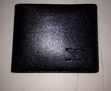 Men Cow Billfol Leather Wallet Bank Credit Card Septwolves Black