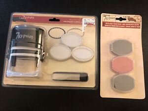 NEW 7 Gypsies Interchangeable Certifiable Stamp Oval French Seal w/ Ink Pads NOS