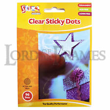 10mm Clear Sticky Dots x96 Acid & Lignin free Craft Hobby Posters Repositionable
