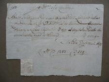 Manoscritto Attestazione Ospitale S.Leonardo Concordia Censo Passivo Modena 1763