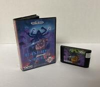 US Rastan Saga II 2 (Sega Genesis) Game Cartridge & Box AUTHENTIC No Manual