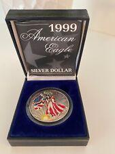 COLORIZED 1999 AMERICAN EAGLE 1OZ .999 SILVER DOLLAR