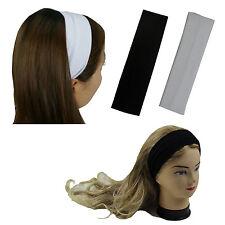 2 Pcs Black & White Women Girl Stretch Headwrap Headband Yoga Sports Fashion
