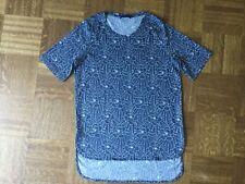 JOOP! T- Shirt mit Blumen jeans blau Gr. S NEU Top Shirt