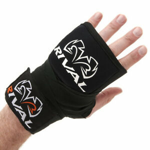 "Rival Boxing Gel Handwraps - 180"" - Black"
