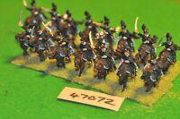 28mm napoleonic / brunswick - hussars 12 figs - cav (47072)