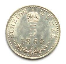 ERHALTUNG! 5 Kreuzer 1864 A, Franz Joseph I. (1848-1916)