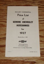 1937 Chevrolet Car & Trucks Accessory Listing & Prices 37 Chevy
