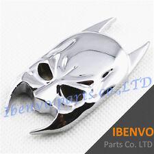 Silver Mirror Metal Batman Mask Dusts Car Emblem Badge Stick Accessories Decals