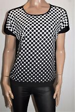 suzannegrae Brand Black Polka Dot Front Short Sleeve Top Size S BNWT #SD07
