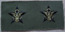 US Army General Staff Subdued Cloth Branch Insignia New Pair