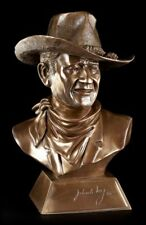 JOHN WAYNE BUST WITH CERTIFICATE - Figurine Cowboy Collection Figure Wil