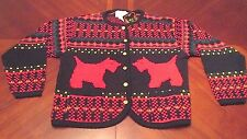 WOMEN'S NWT TALLY HO DOGS UGLY CHRISTMAS PARTY SWEATER GAUDY SIZE M