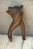 Antique hand Black forest wood carved swiss bear statue nut cracker