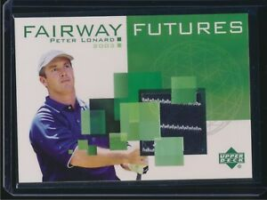 2003 Upper Deck Golf Fairway Futures Shirt Relic Peter Lonard