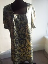 Marks and SPENCER VINTAGE SATIN DRESS 12