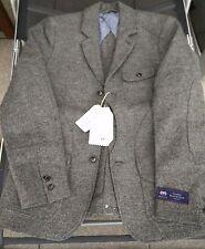 H&M Mauritz Archive Abraham Moon Men's Wool Tweed Blazer Sakko US38R EUR48 NEU