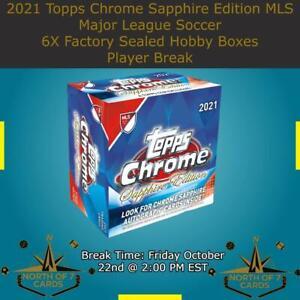 Matt Turner 2021 Topps Chrome Sapphire MLS Soccer 6X Boxes BREAK #2
