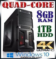 AMD Fusion Quad-core 3.8ghz Max 8gb RAM 1tb HDD 7650k Gaming Computer Desktop PC