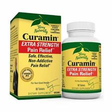 Terry Naturally Extra Strength Pain Relief~BCM-95 Curamin~60 Tablets~Free Ship