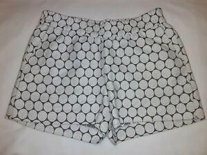 J Crew Gray White Circle Dot Boardwalk Pull On Shorts Womens sz 2