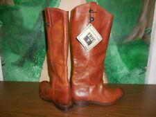 """FRYE Boots """"Melissa Button"""" Cognac Brown Leather Boots sz 8 B (READ DESCRP)"""