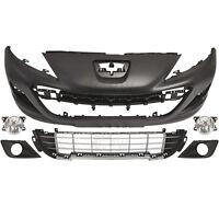 Set Stoßstange vorne grundiert+Nebel+Zubehör Peugeot 207 Bj. 09-12 Facelift
