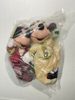 Disney Store Romeo Mickey Mouse and Juliet Minnie Mouse Beanbag Plush Sealed Bag