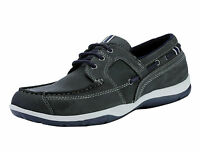 Red Tape Men's Dargle Nubuck Leather Casual Boat Shoes Navy